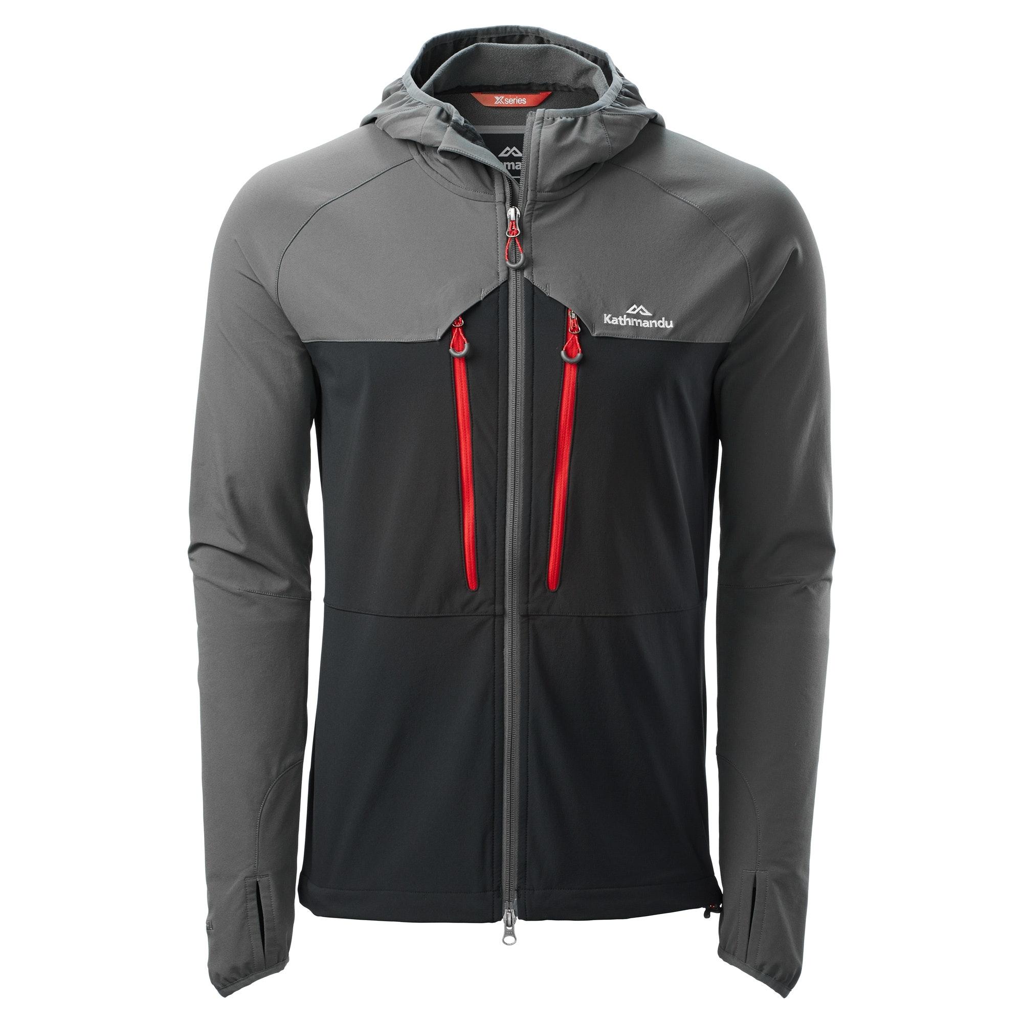 Details about NEW Kathmandu XT Terrno Men's Hooded Wind Water Resistant Softshell Jacket v2