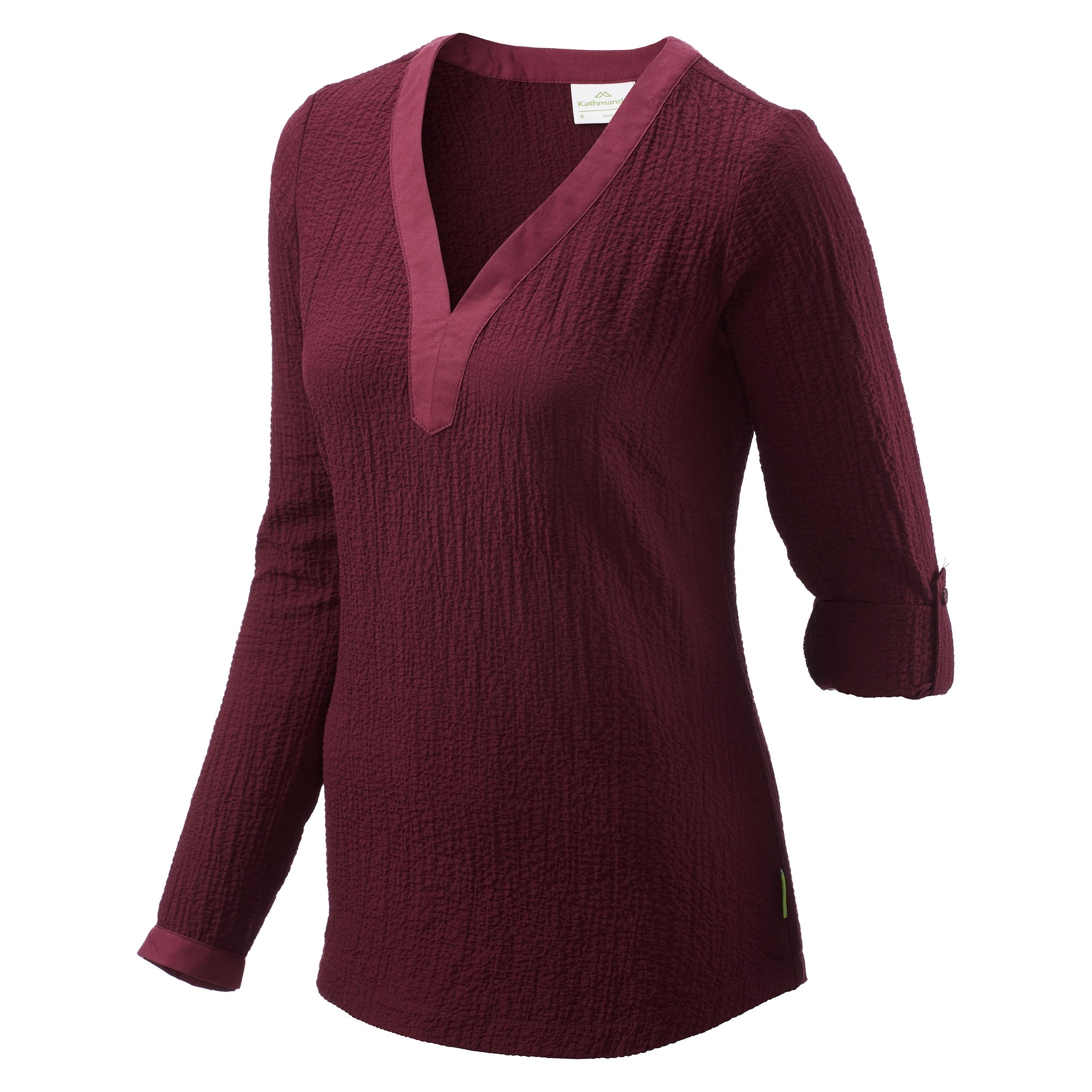 NEW-Kathmandu-Marala-Women-039-s-Long-Roll-Up-Sleeve-V-Neck-Top-Casual-Shirt-v2 thumbnail 5