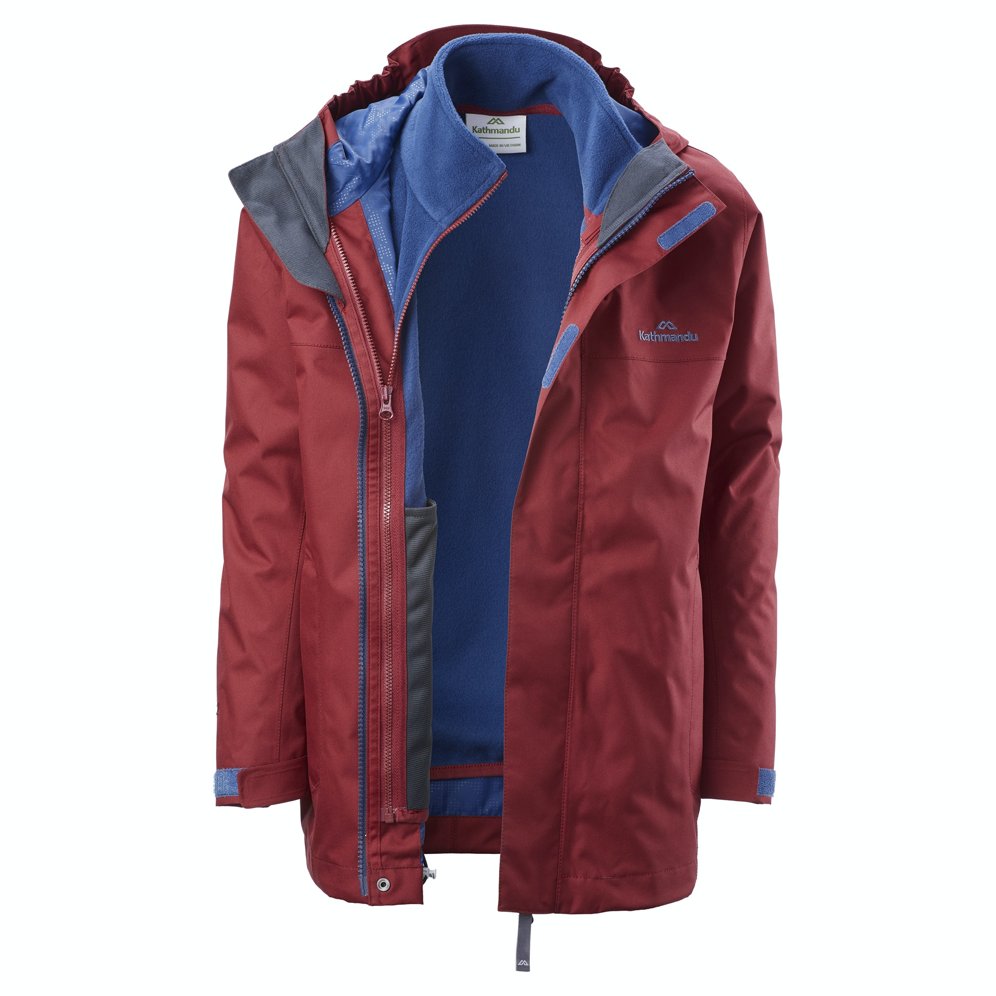 d7ce68e26 Details about Kathmandu Chiecco Kids' Girls' Boys' Waterproof 3 in 1 Hooded Winter  Jacket v2