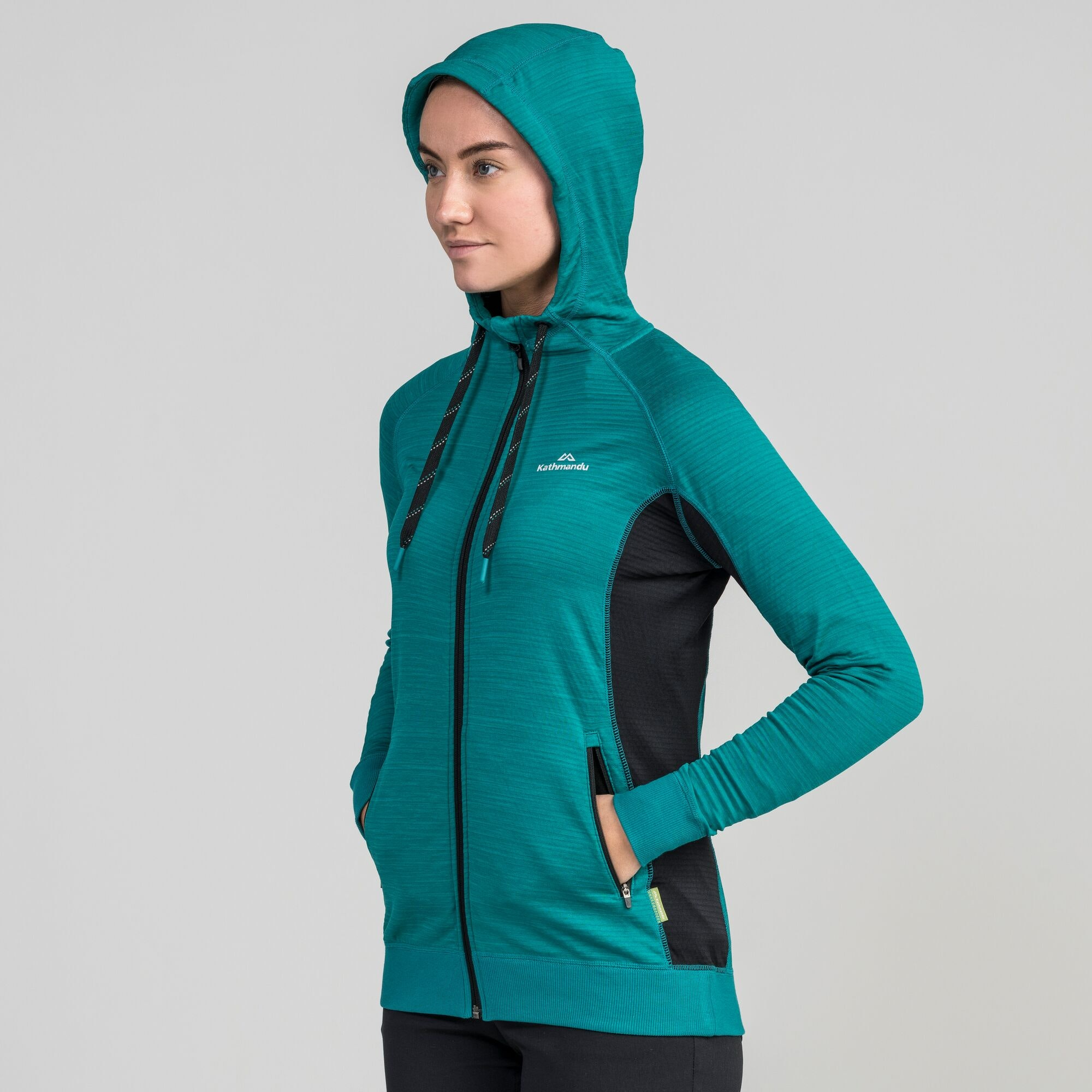 NEW-Kathmandu-Acota-Women-s-Hooded-Fleece-Lightweight-Breathable-Outdoor-Jacket thumbnail 16