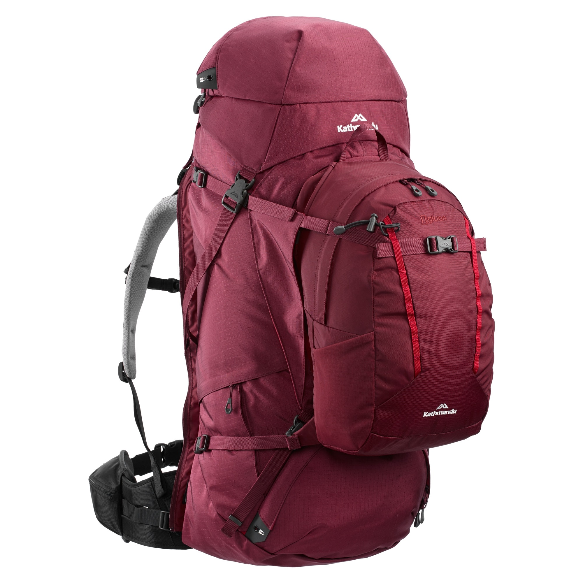 NEW-Kathmandu-Interloper-gridTECH-70L-Hiking-Travel-Backpack-Luggage-with thumbnail 14