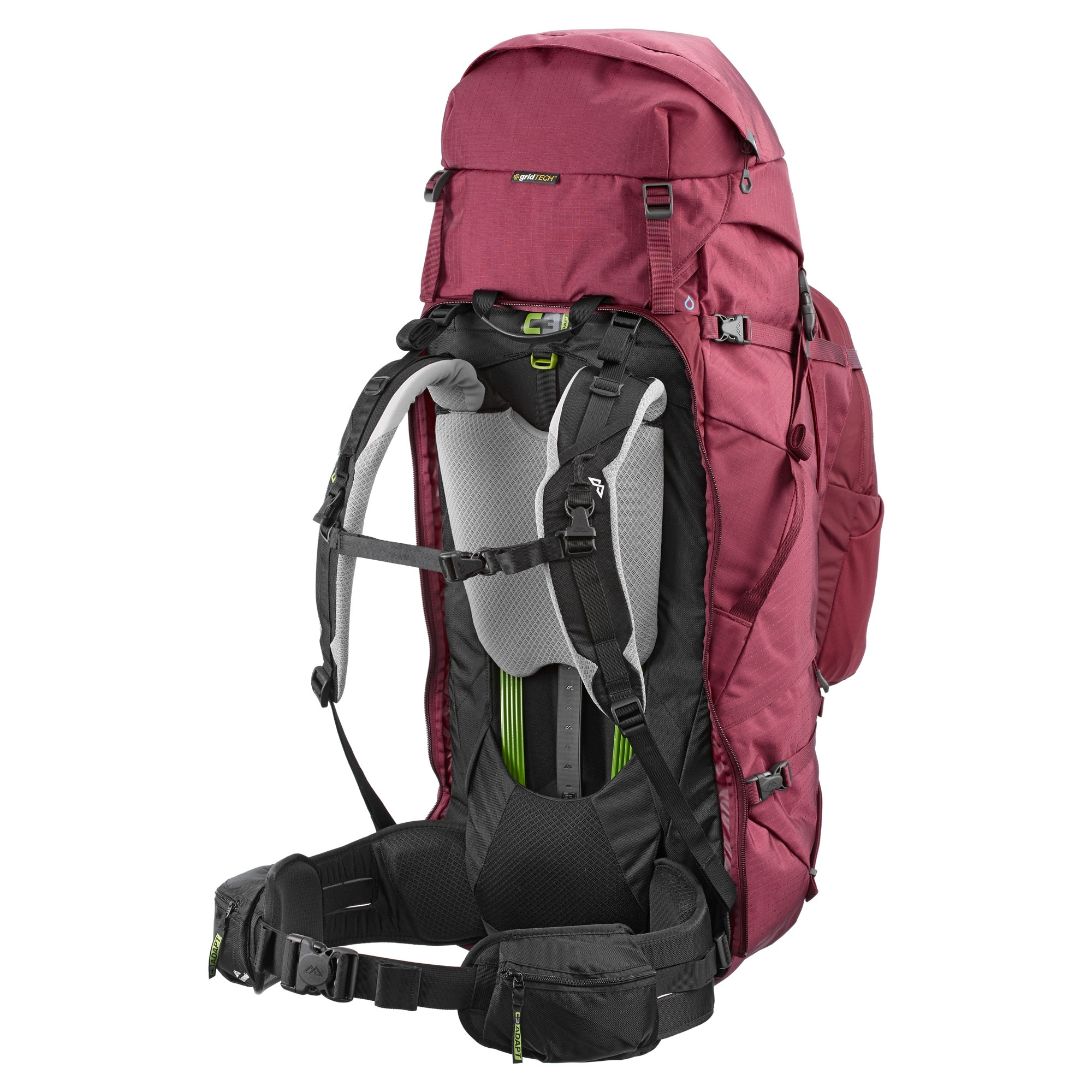 NEW-Kathmandu-Interloper-gridTECH-70L-Hiking-Travel-Backpack-Luggage-with thumbnail 11