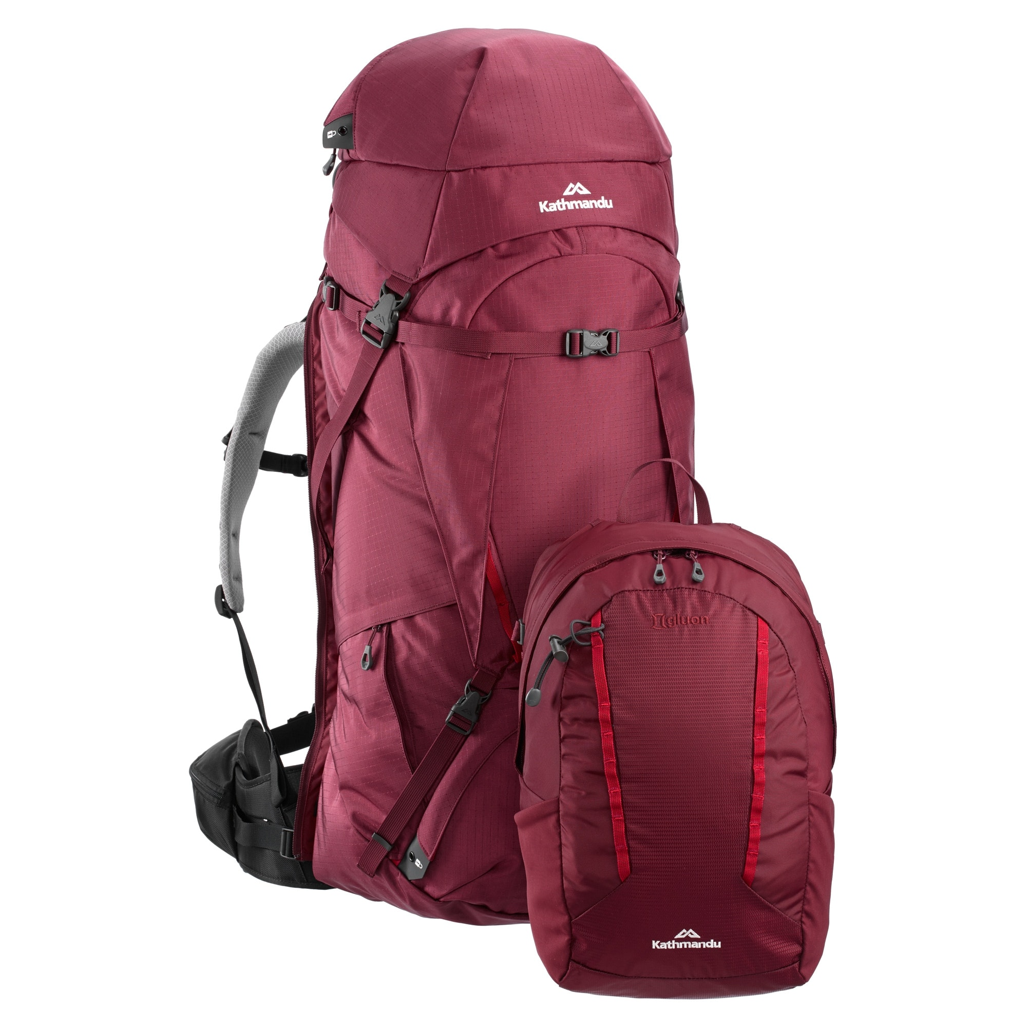 NEW-Kathmandu-Interloper-gridTECH-70L-Hiking-Travel-Backpack-Luggage-with thumbnail 13