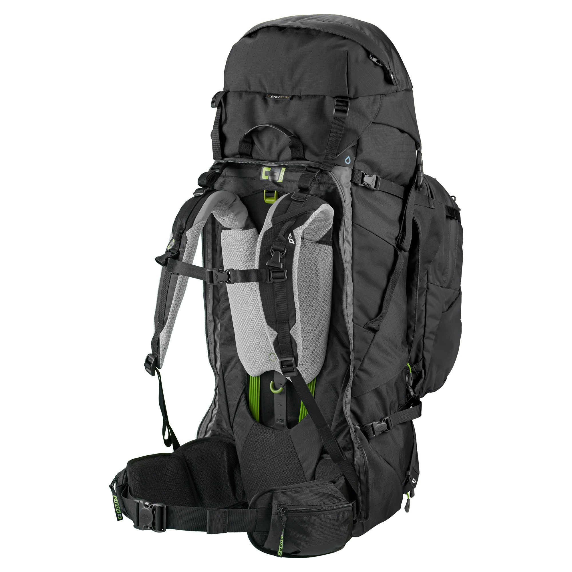 NEW-Kathmandu-Interloper-gridTECH-70L-Hiking-Travel-Backpack-Luggage-with thumbnail 6
