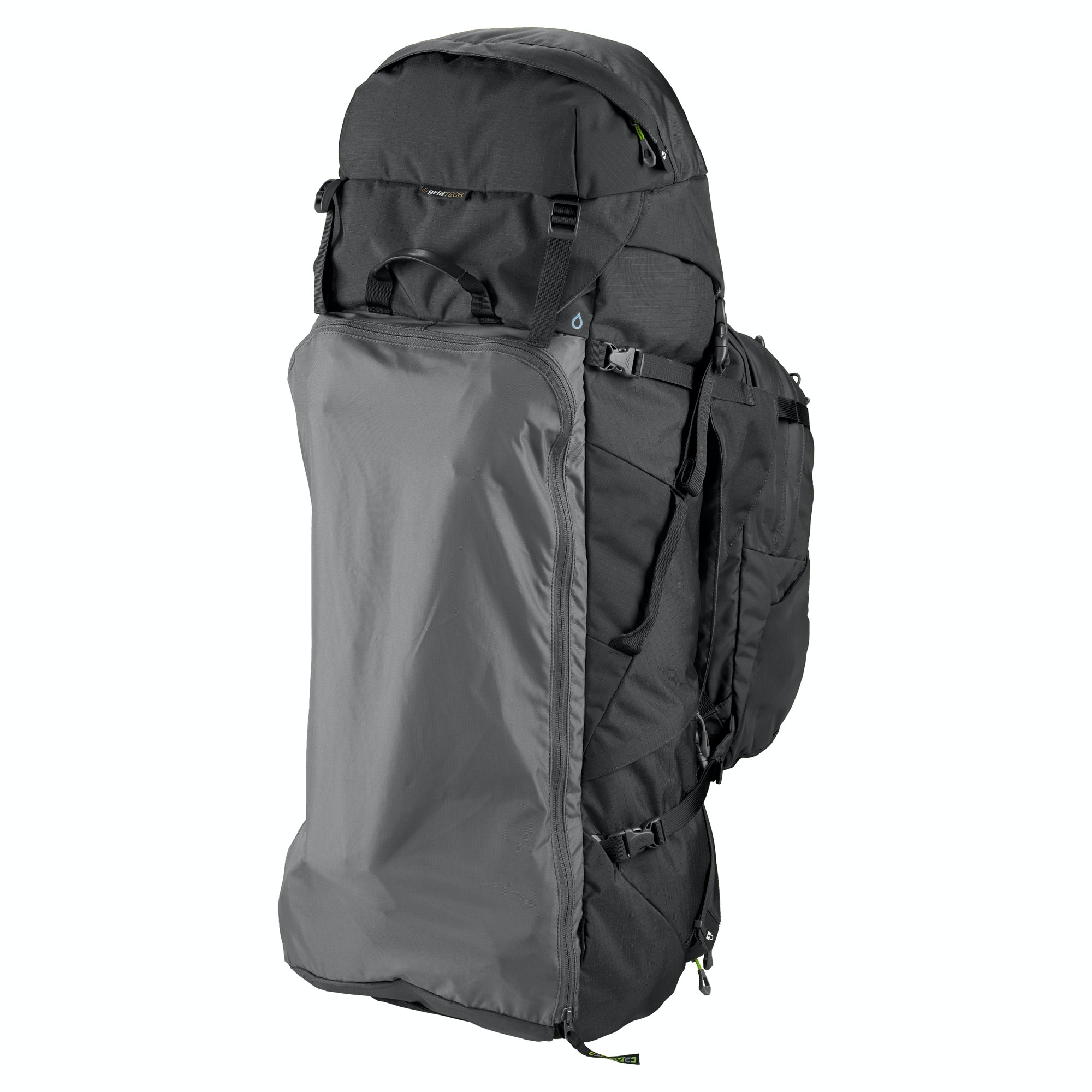 NEW-Kathmandu-Interloper-gridTECH-70L-Hiking-Travel-Backpack-Luggage-with thumbnail 7