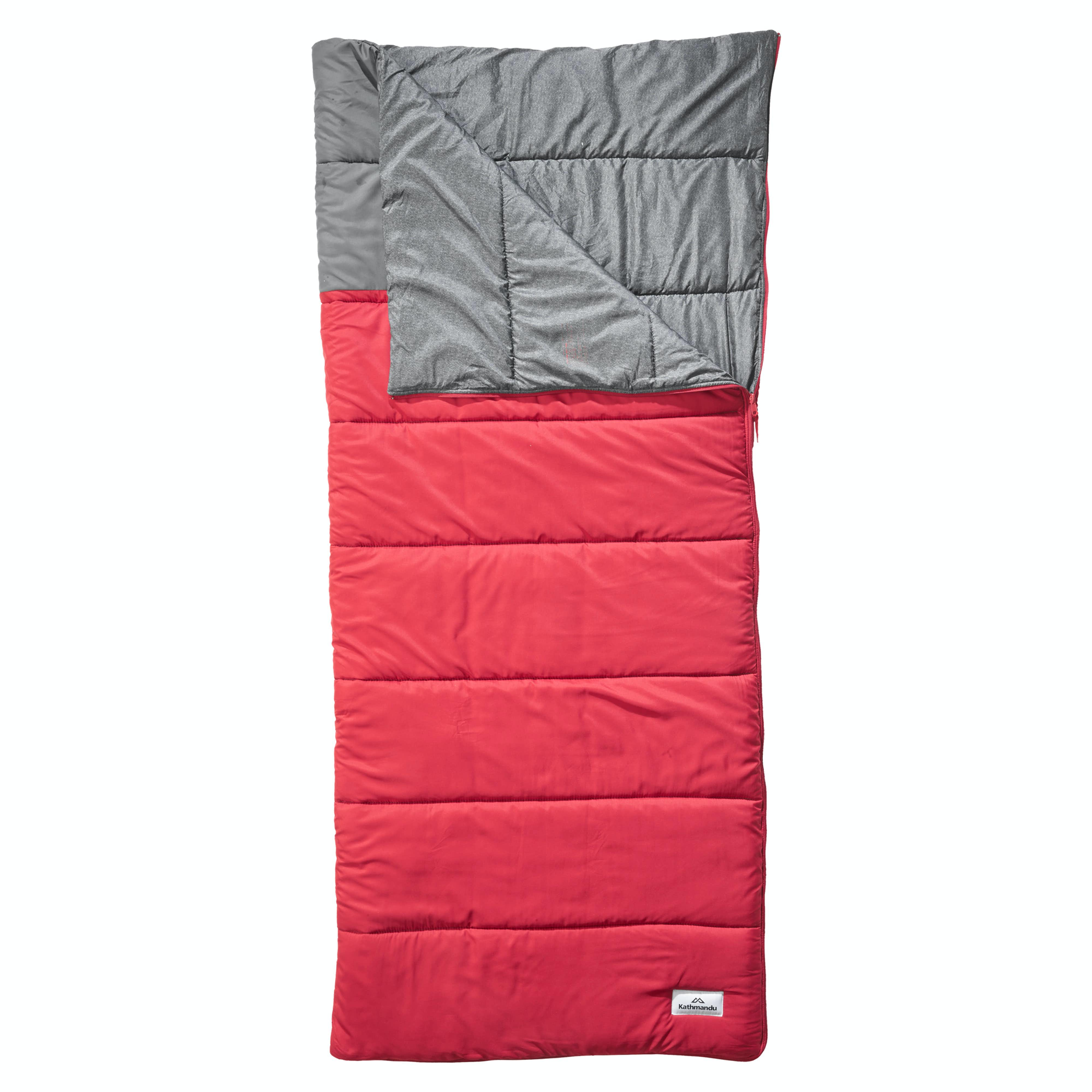 Roamer Rectangular Insulated Sleeping Bag Red Grey