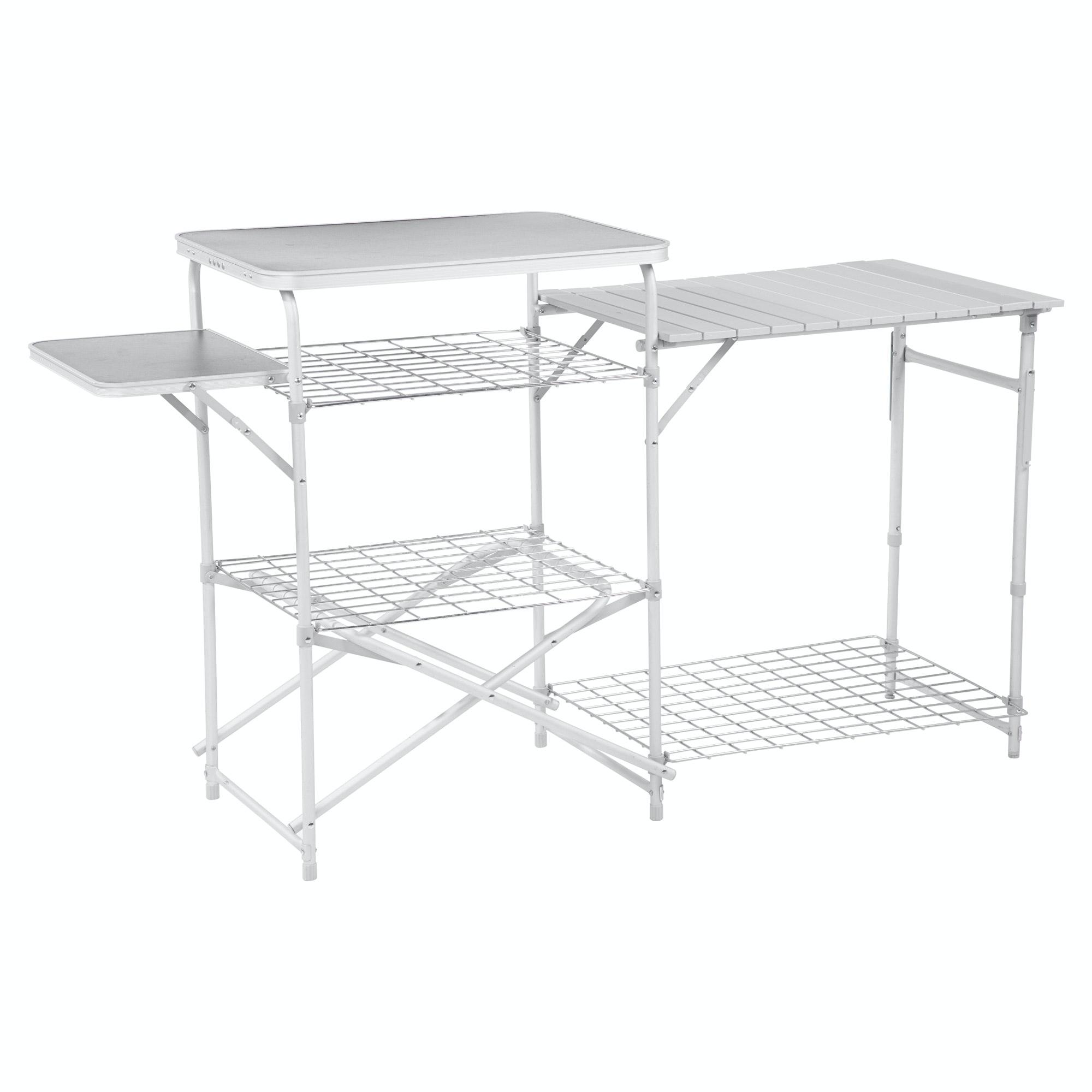 NEW Kathmandu Retreat Foldable Portable Shelves Table