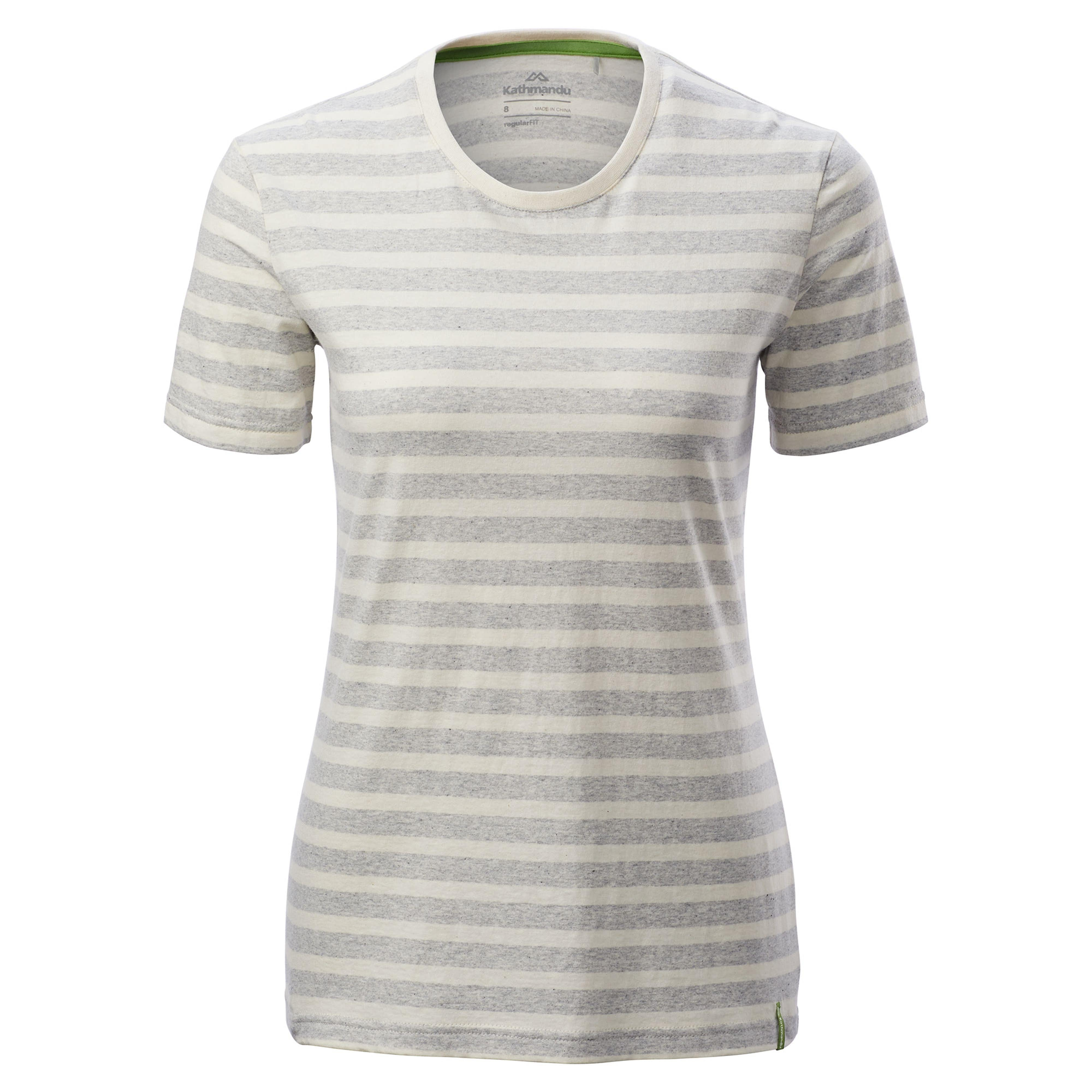 81783887371 Striped Women's Crew Short Sleeve T-Shirt