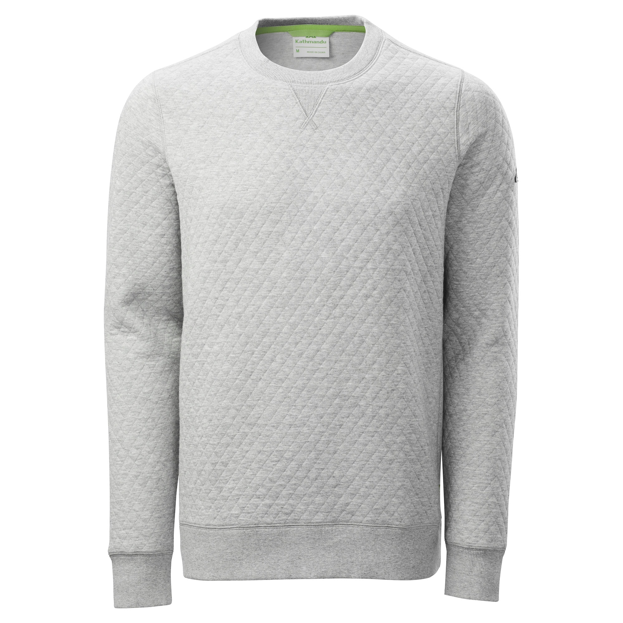 03f0113296 Details about NEW Kathmandu Flaxton Mens Quilted Sweatshirt Crew Neck  Jumper Pullover Top