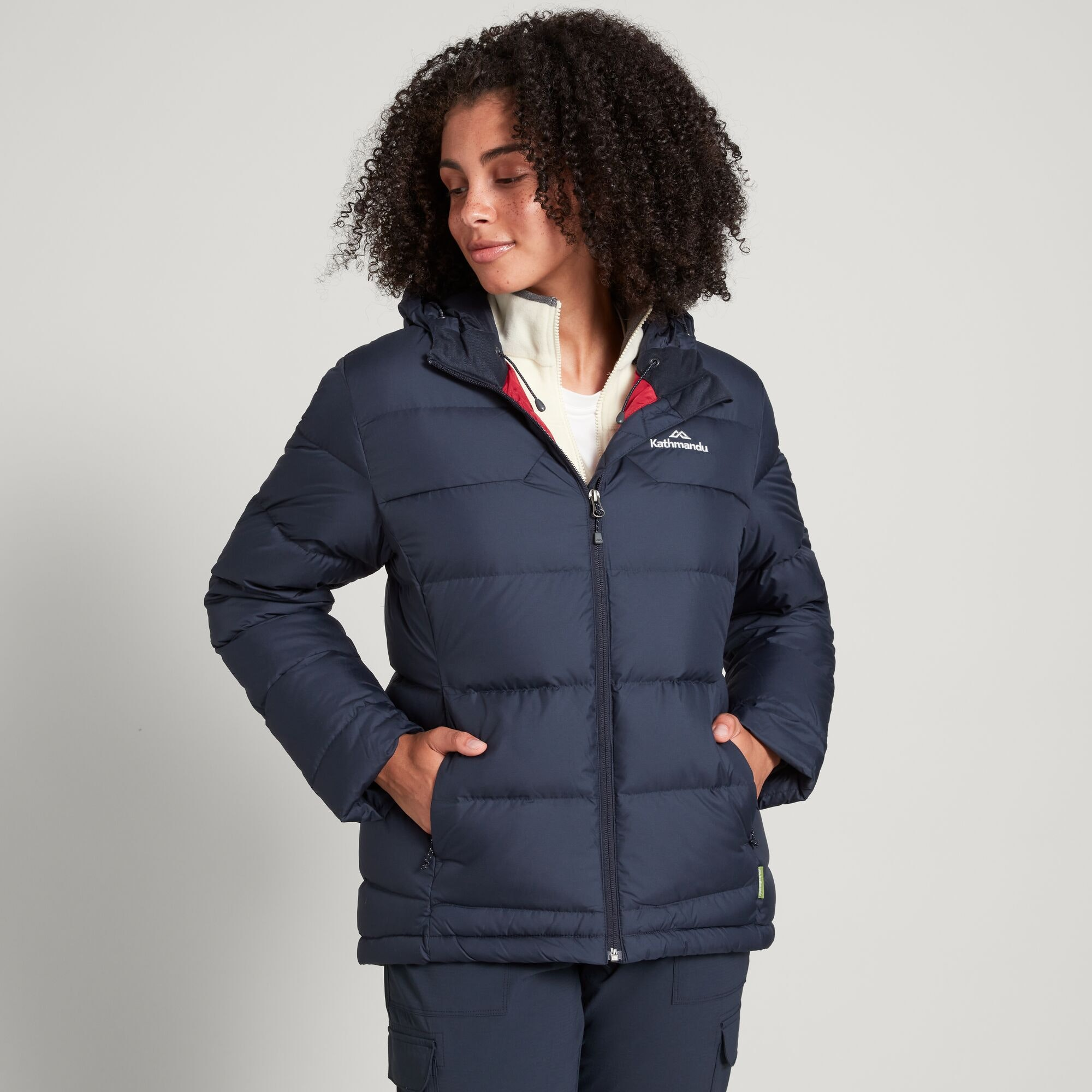 thumbnail 13 - NEW Kathmandu Epiq Womens Hooded Down Puffer 600 Fill Warm Outdoor Winter Jacket