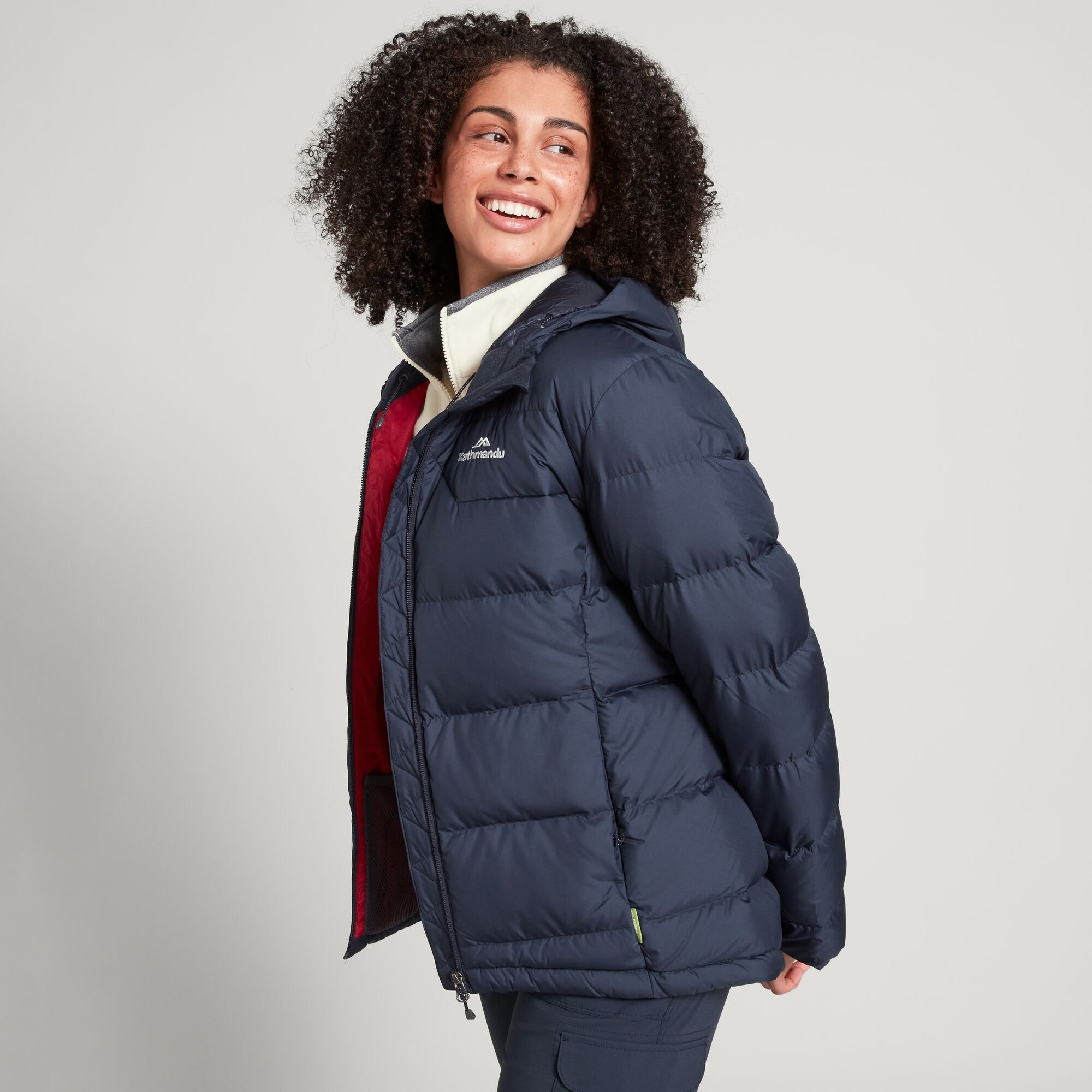 thumbnail 16 - NEW Kathmandu Epiq Womens Hooded Down Puffer 600 Fill Warm Outdoor Winter Jacket