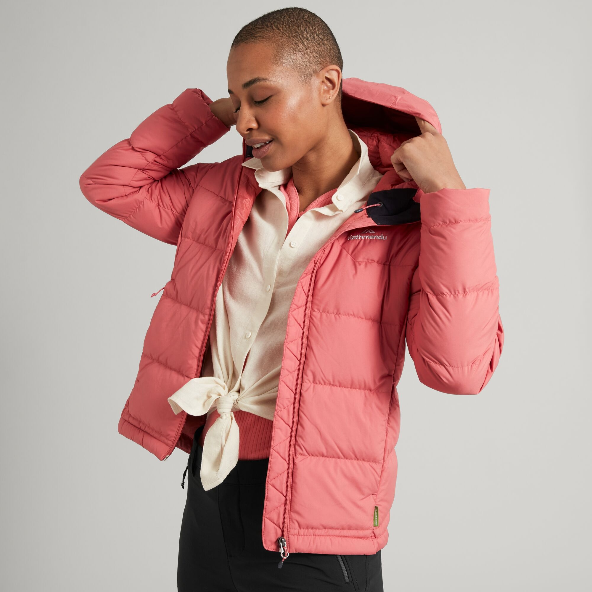 thumbnail 29 - NEW Kathmandu Epiq Womens Hooded Down Puffer 600 Fill Warm Outdoor Winter Jacket