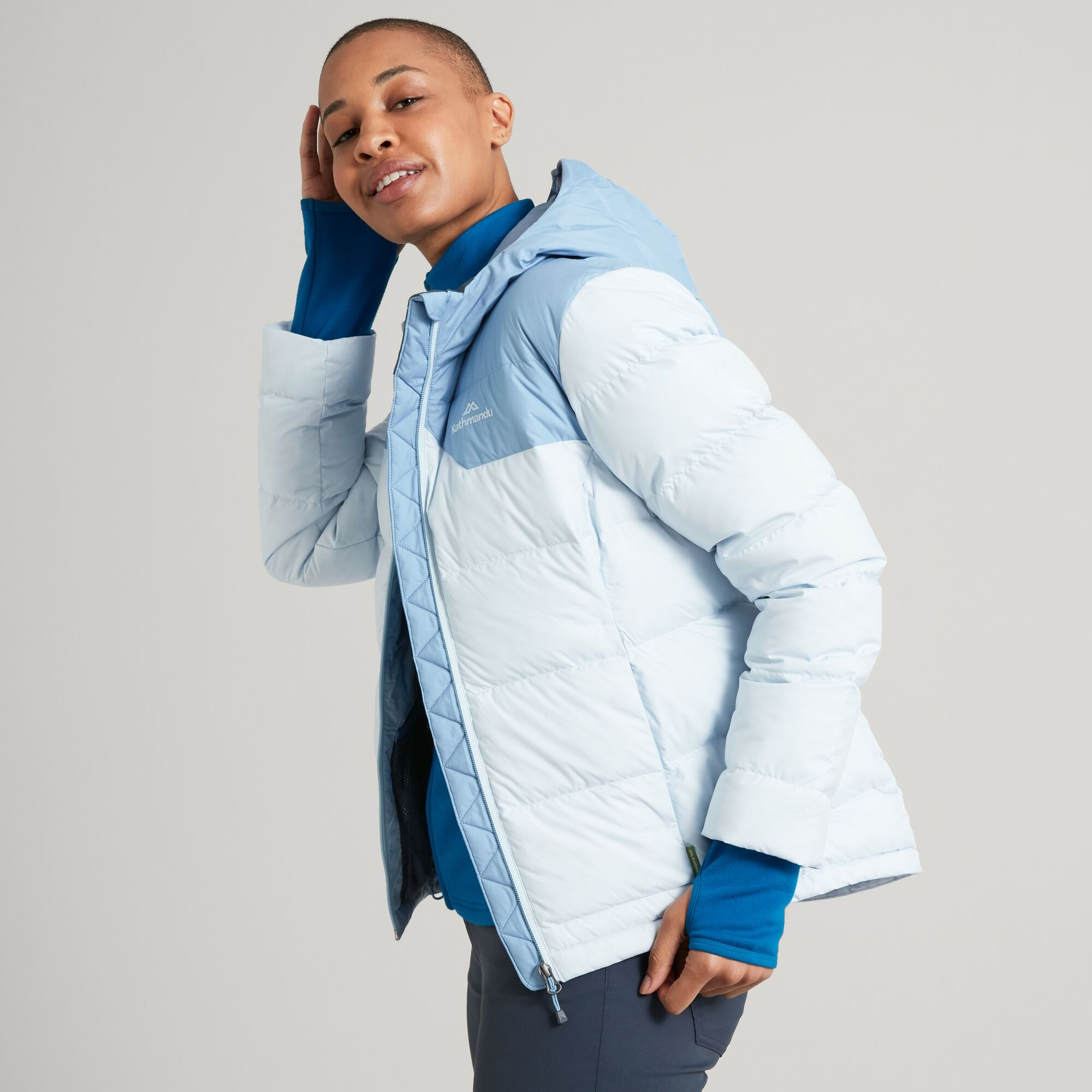 thumbnail 19 - NEW Kathmandu Epiq Womens Hooded Down Puffer 600 Fill Warm Outdoor Winter Jacket
