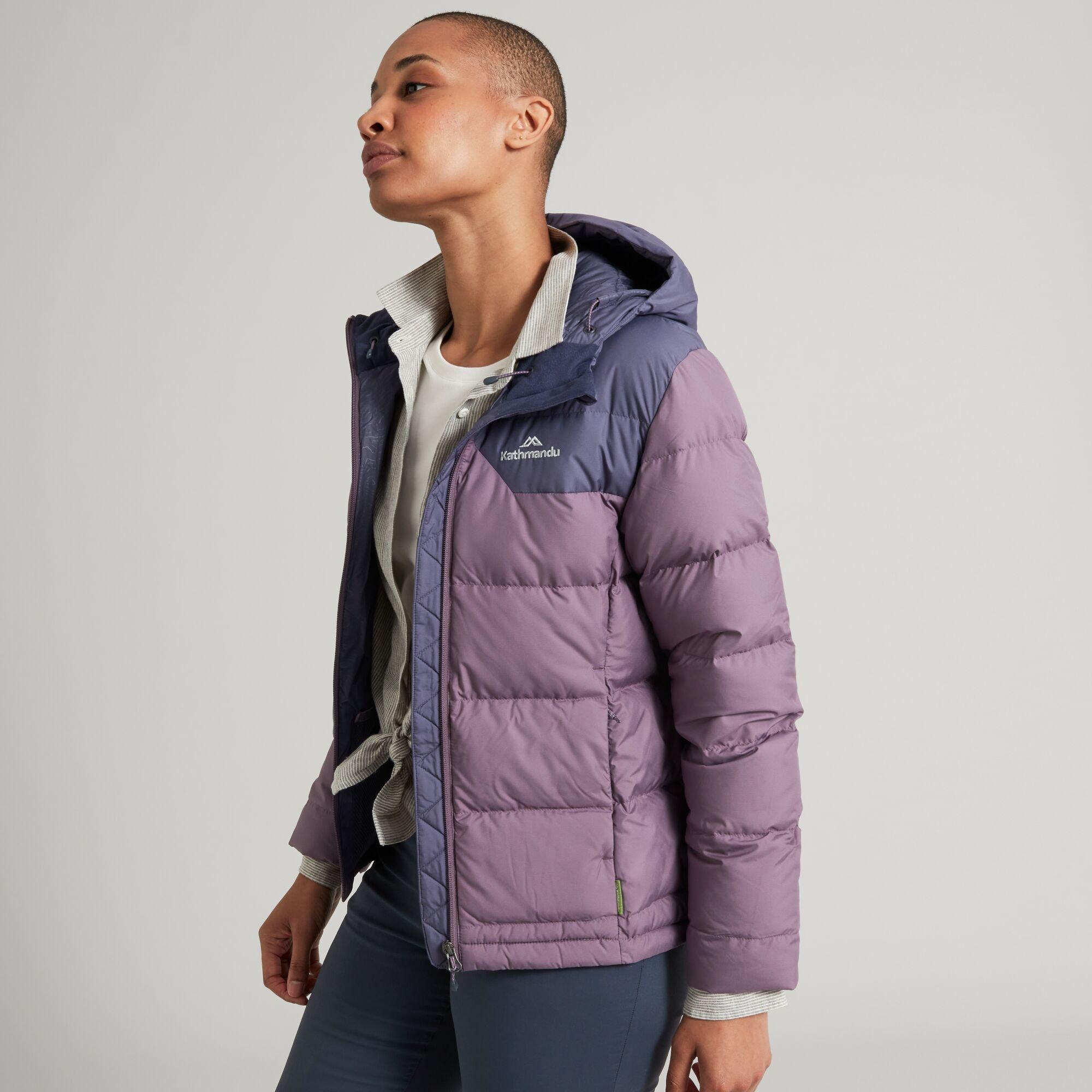 thumbnail 39 - NEW Kathmandu Epiq Womens Hooded Down Puffer 600 Fill Warm Outdoor Winter Jacket
