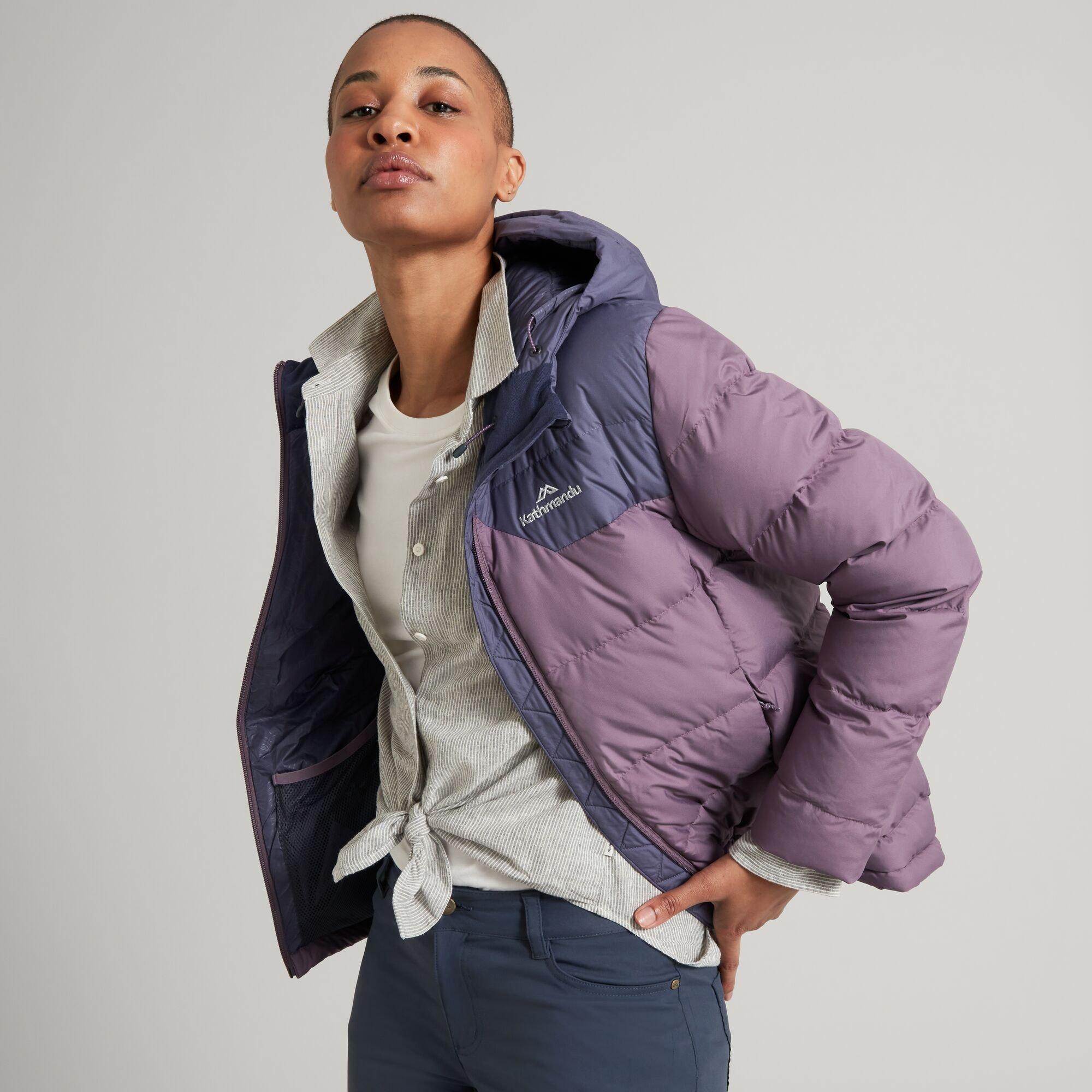 thumbnail 40 - NEW Kathmandu Epiq Womens Hooded Down Puffer 600 Fill Warm Outdoor Winter Jacket