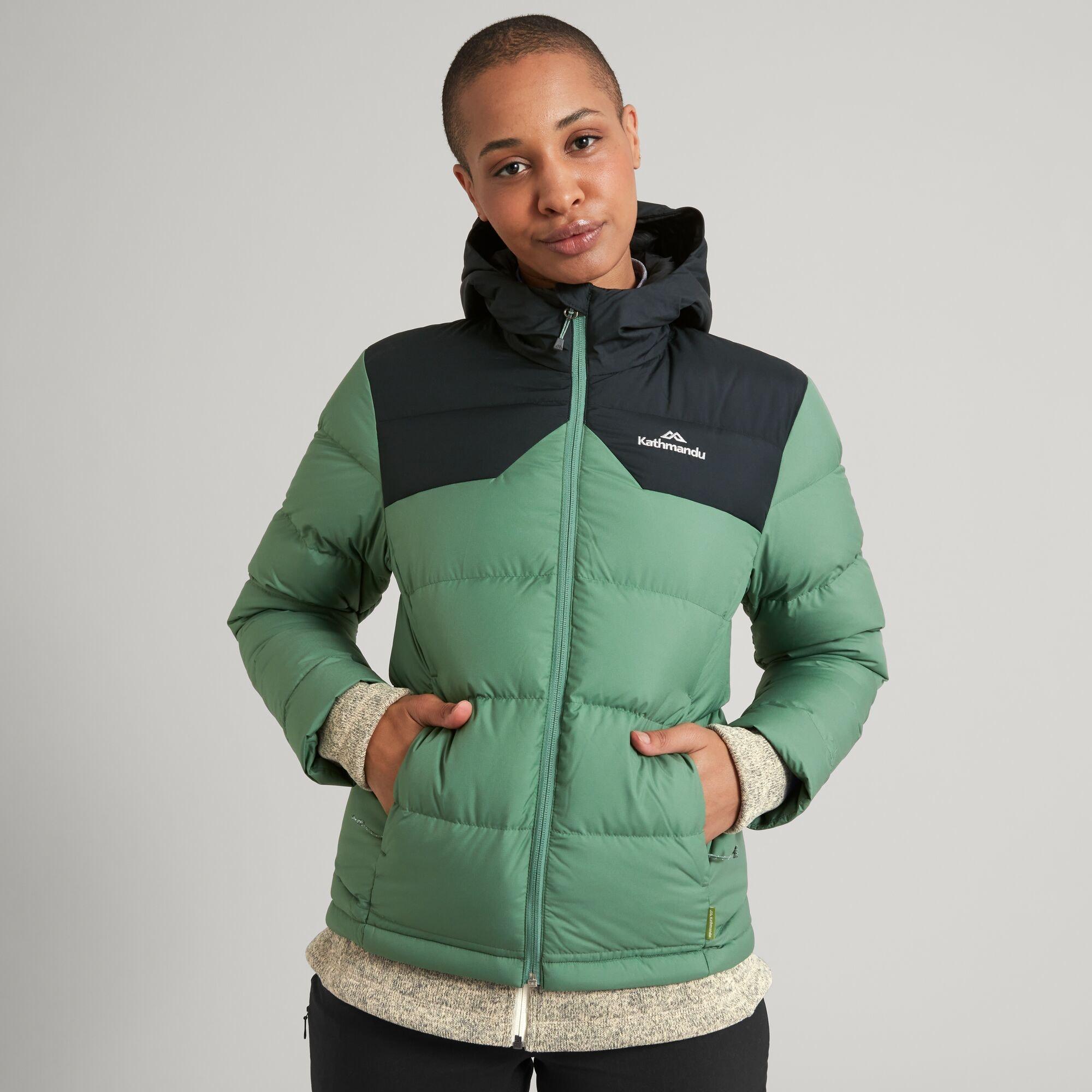thumbnail 46 - NEW Kathmandu Epiq Womens Hooded Down Puffer 600 Fill Warm Outdoor Winter Jacket