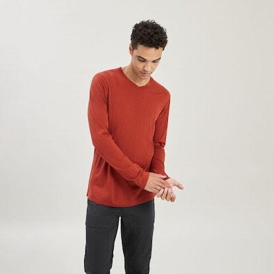 100% Merino Long Sleeve V-Top